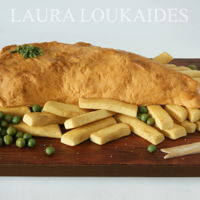 Fish And Chips Cake Fish and Chips Cake - Featured Tutorial in ACDN Cake! Magazine (may 2016)