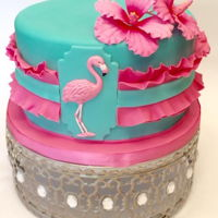 Flamingo Ruffle Cake Flamingo ruffle cake made for another cake/sugar artist for her 21st birthday.