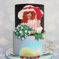 Flower Girl - Edible Quilling Art. Portraying the art of Quilling ( a paper art of rolling paper strips and creating beautiful designs ) in edible form on this latest cake...