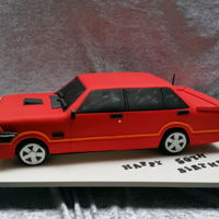 "Ford Xd i was asked to copy the birthday boy's old xd ford in cake. Client sent me 4 photos and this is what i came up with. Cake was 22""..."