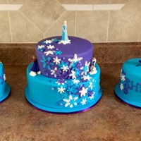 Frozen Themed Cake Chocolate cake with Swiss meringue buttercream
