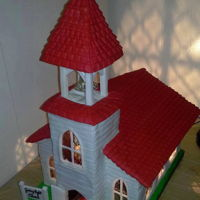 Gingerbread Church I made this gingerbread church and decorated it with fondant. Inside is a light bulp and a entire edible interior. you can look inside...