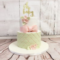 Girl Baby Shower Cake 6 and 8 inch.