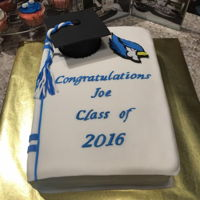 Graduation Cake Blue Jay Graduation Cake