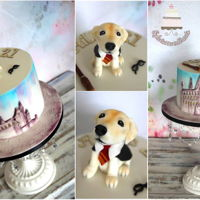 Harry Potter And Laby Pup Cake for Harry Potter fan and lover of lab pups :)