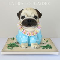 Hawaiian Pug Cake Paulo the Pug