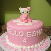 Hello Kitty I was inspired by Johelie's Hello Kitty for this kitty cake.