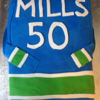 Hockey Jersey   Hockey jersey cake for 50th birthday - Vancouver Canucks