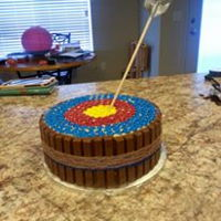 Kit Kat Target   Made this super fun cake for my nephew's Boy Scouts dinner. It was a hit!