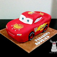 Lightning Mcqueen I made this cake for 4 years old boy!