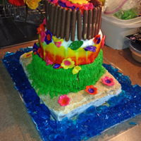 Luau Cake Hawaiian themed party Luau cake