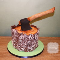 Lumberjack Cake This a smaller version of Liz Marek's Lumberjack cake. Great tutorial.