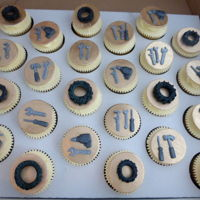 Mechanic's Tools Cupcakes Mechanic's tools cupcakes