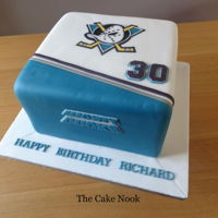 Mighty Ducks Cake   Fun cake to make for a fan of the film, The Mighty Ducks. www.facebook.com/TheCakeNook