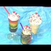 Mini Cake Pop Rainbow Milkshake And A Rainbow Cake Pop Ice Cream Cone Mini milkshake and ice cream cone made with rainbow colored cake pop filling. Topped with marshmallow buttercream frosting, rainbow...