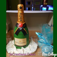 Moet Champagne Bottle Cake Champagne bottle