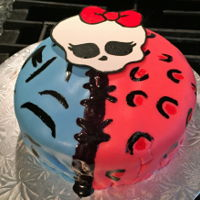 Monster High Monster High cake for daughter's birthday