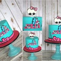 Monster High Monster high themed cake.