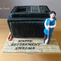 Old Radio Cake. Friend wanted a cake for her mam's retirement. Her mam works as a cleaner at a school and uses this old radio every day, so she...