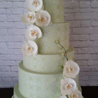 Orchid Wedding Cake Asian inspired wedding cake with sugar orchids