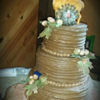 Rustic Grooms Cake Sugar Deer & Turkey