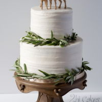 Rustic Woodsy Wedding Cake Rustic, woodsy, wedding cake by 2bi Cakes. https://www.facebook.com/2bicakes/