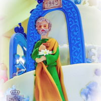 Saint Joseph Saint Joseph's statue for our Parish's 150th cornerstone celebration. Hand modeled with fondant. Built on an inverted ice cream...