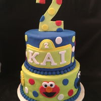 Sesame Street Birthday Sesame Street Birthday cake w sesame characters and large number 2...