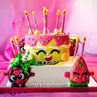 Shokpkins Theme Shopkins cake for my daughter