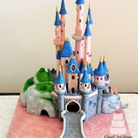 Sleeping Beauty Castle Cake This Castle cake was inspired by the sleeping beauty castle. I made this cake for competition in Portugal at the end of last year!I won 1st...