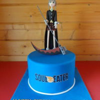Soul Eater Cake  Made this cake cake for my nephew's 13th birthday. He loves his Manga animations and this is one of his favourites. Hope you like it....