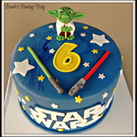 Star Wars Birthday Cake I made this for a friend of the family.