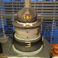 State Trooper Celebration Cake This three tier all edible cake was created to help celebrate the promotion of one of South Carolinas finest. The top tier is fresh...