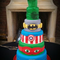 Super Hero Grooms Cake Super Hero Cake
