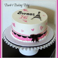 Sweet 16 My latest buttercream cake: Sweet sixteen birthday cake. Chocolate fudge with raspberry buttercream filling. Swiss meringue buttercream and...