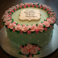 Sweet Roses Cake   Buttercream cake with gumpaste roses