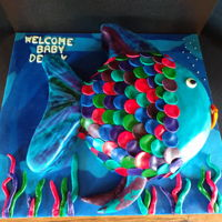 The Rainbow Fish Book   The rainbow fish cake