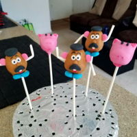 Toy Story Cake Pops Trial see if I could make Toy Story themed cake pops. Lots of fun but very time consuming!