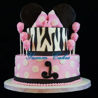 Zebra Minnie Zebra, Minnie Mouse theme