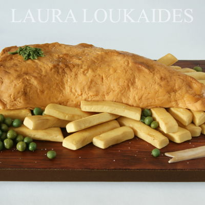 Fish And Chips Cake on Cake Central
