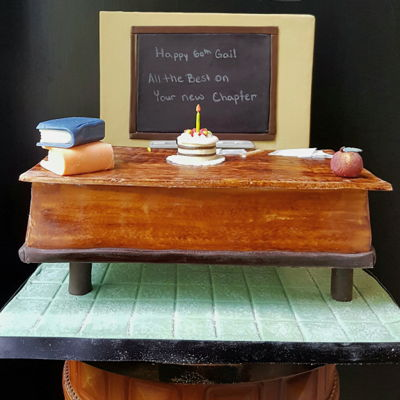 Teachers Desk Cake