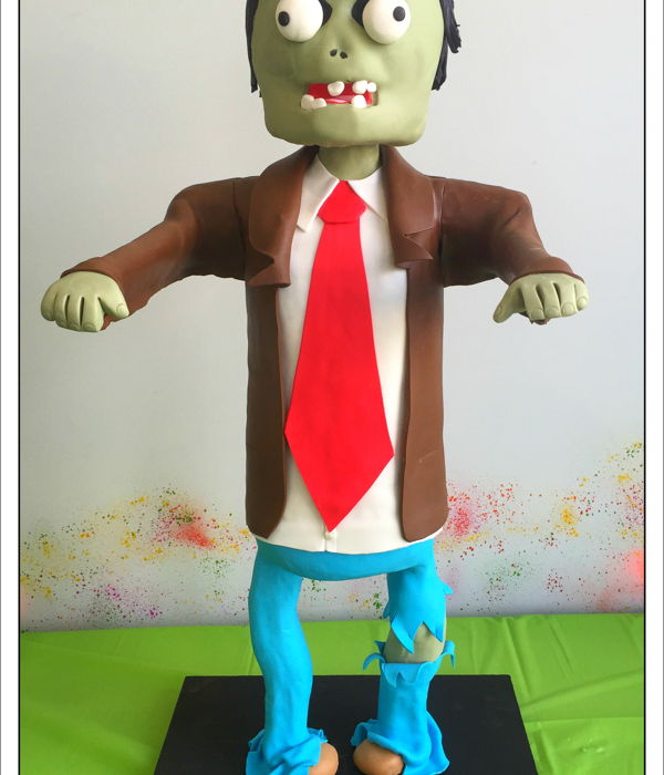 3D Standing Zombie Cake