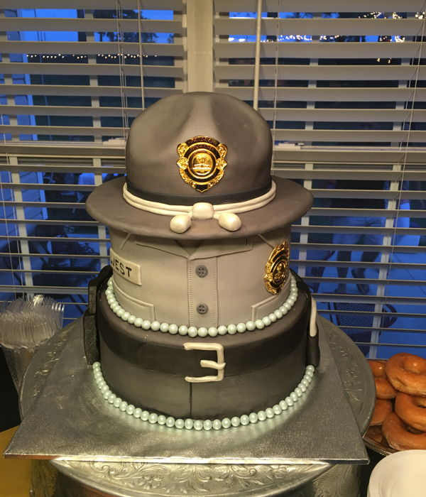 State Trooper Celebration Cake