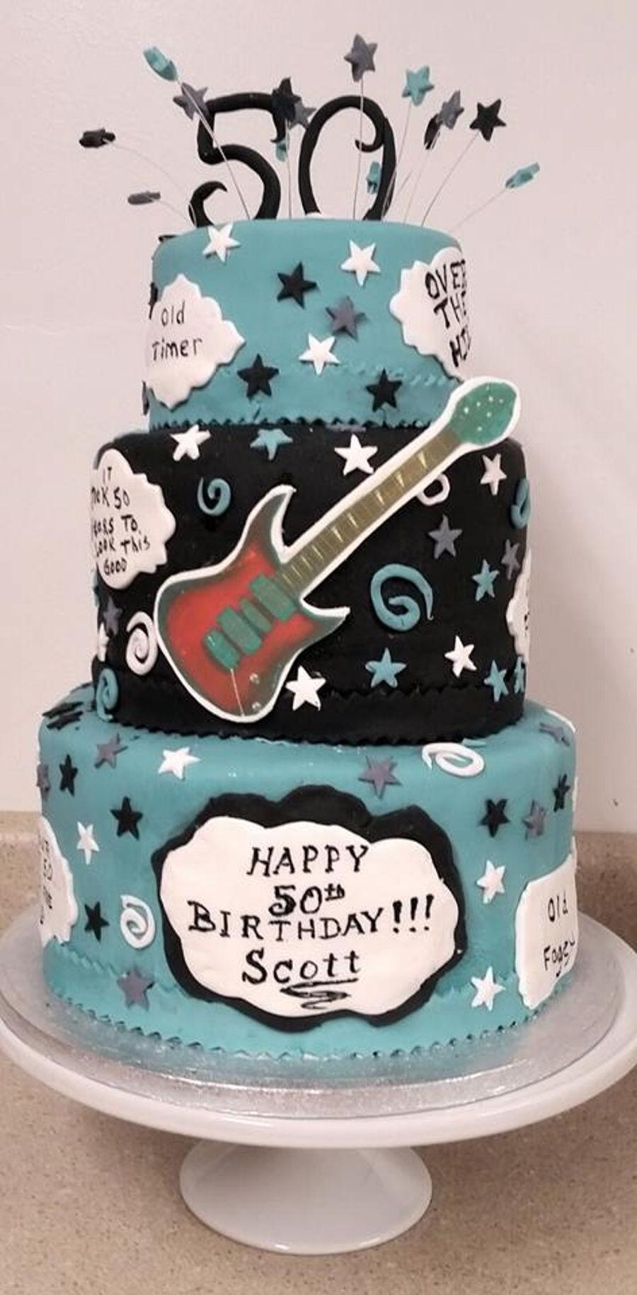 Super 50Th Birthday Cake Cakecentral Com Personalised Birthday Cards Veneteletsinfo