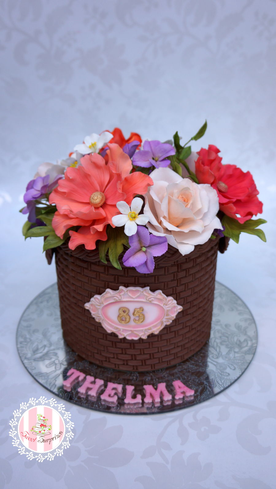 A Basket Of Flowers For Thelma on Cake Central