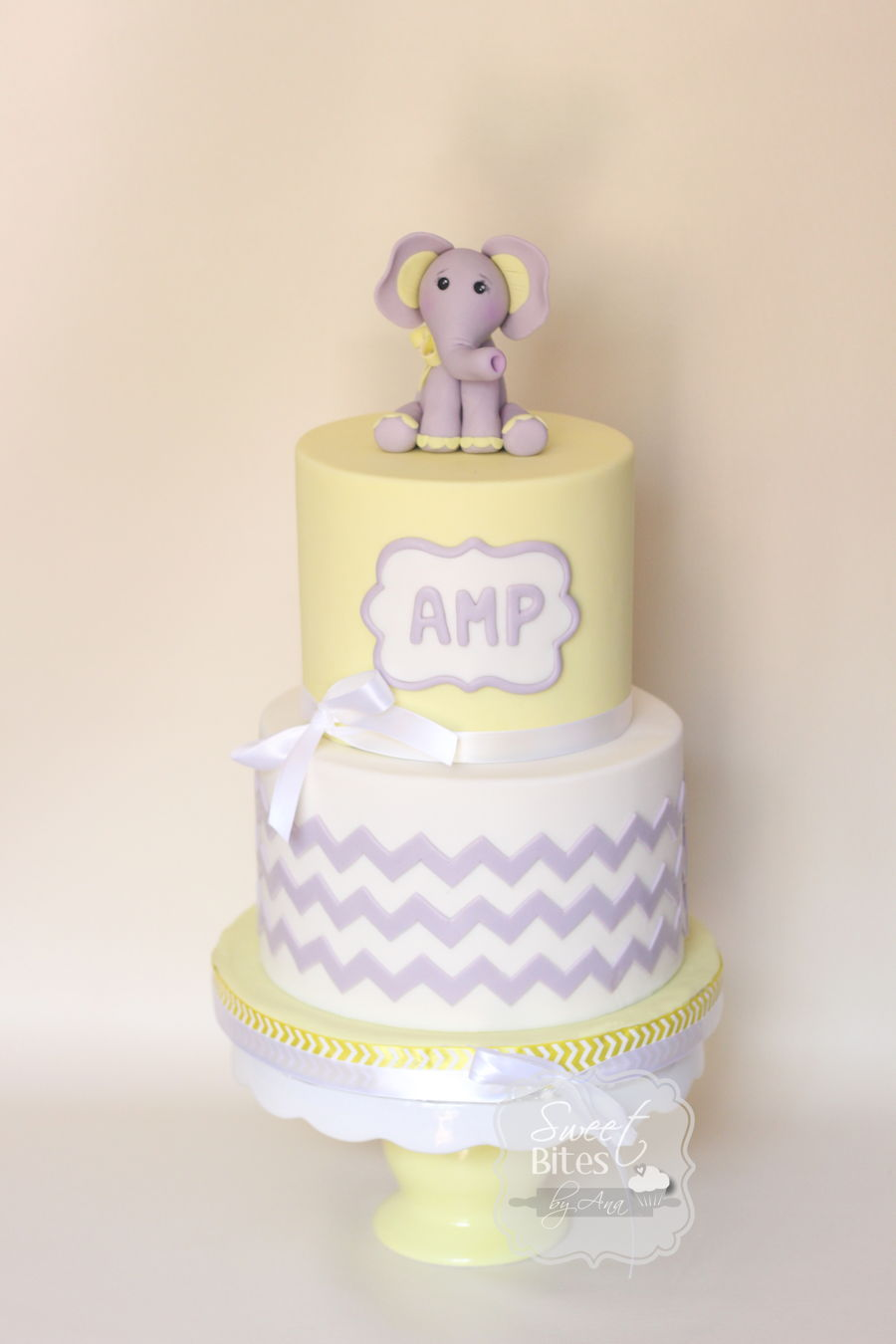 Yellow Elephant Baby Shower Cake