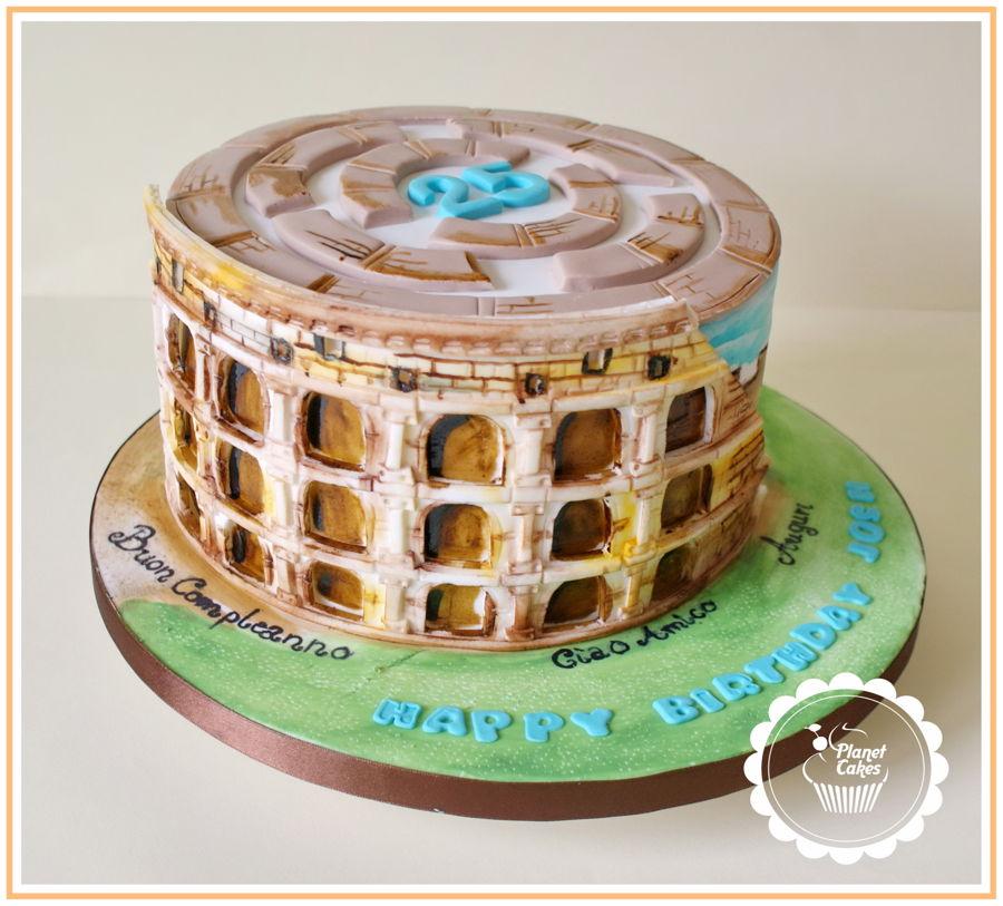 Cake Design Roma Prenestina : Colosseum Cake-Rome - CakeCentral.com