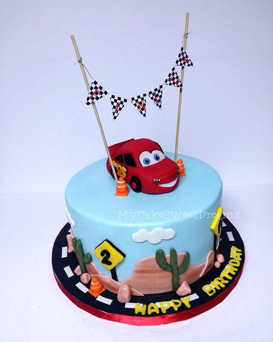 Admirable Disney Car Birthday Cake Cakecentral Com Personalised Birthday Cards Veneteletsinfo