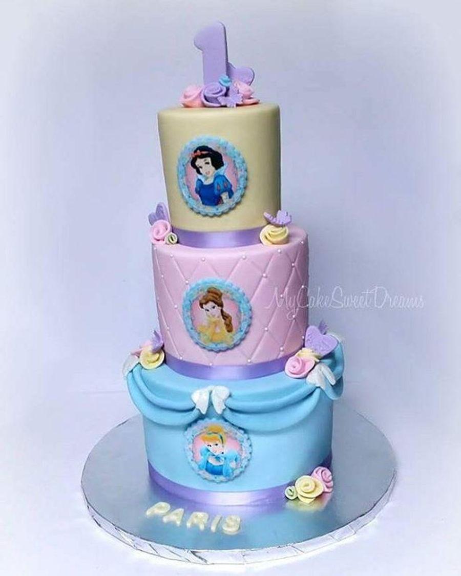 Phenomenal Disney Princess 1St Birthday Cake Cakecentral Com Funny Birthday Cards Online Aboleapandamsfinfo