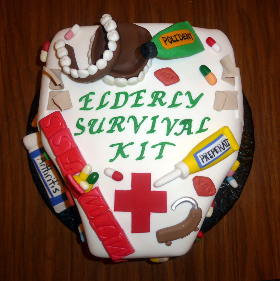 Elderly Survival Kit Cake Cakecentral Com